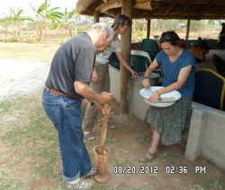 Peace Corps trainee Paul Blum in Zambia.