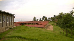 The secondary school in Peace Corps volunteer Aisha Kennedy's community.