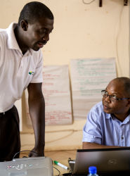 Peace Corps volunteer Gilbert Bonsu.