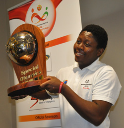 One of the Special Olympics Africa Unity Cup athletes.