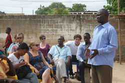 Participants learn about an effective community-based malaria prevention program.