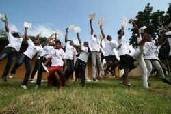 Swazi camp GLOW participants.