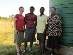 "Peace Corps volunteer Jenn Baker with members of the ""Young Mother's Support Group."
