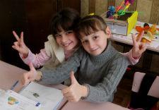 Fifth grade students in Ukraine.