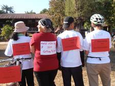 Peace Corps volunteer Anita Root with Thai community members.