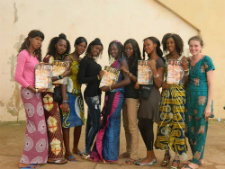 The Guinean journalists and Keeley (R)