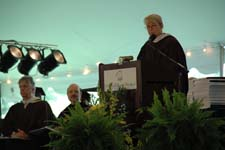 Peace Corps Deputy Director Carrie Hessler-Radelet delivers the commencement keynote address at St. Marys College of Maryland.