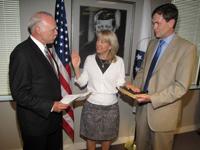 Returned Peace Corps Volunteer Carrie Hessler-Radelet is sworn in as deputy director of Peace Corps.