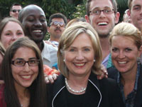 Clinton with Peace Corps Guatemala Volunteers and staff