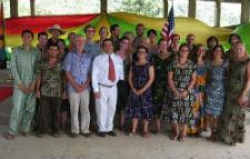 Newly sworn-in Peace Corps volunteers in Ghana.