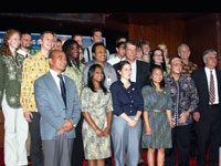 Malang, East Java  Newly sworn-in Peace Corps Volunteers with U.S. Ambassador to Indonesia Cameron R. Hume.