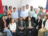 Peace Corps Director Aaron S. Williams met with several Peace Corps/Jordan volunteers.