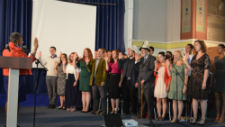 Taking the oath of service in Kyrgyzstan
