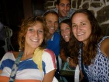 Peace Corps volunteer Elizabeth Alden Landis (left) with other Peace Corps volunteers.