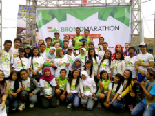 Volunteers at the marathon