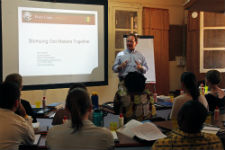 Peace Corps Africa Regional Director Dick Day helps to kick off Boot Camp.
