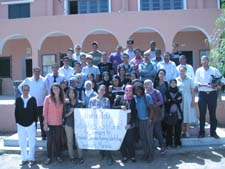 Peace Corps/Morocco volunteer Maureen Sieh with workshop participants.