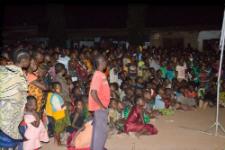 Tanzanians enjoy movie night