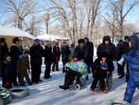 Wheelchair race on ice