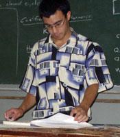 Peace Corps Volunteer Joseph Chow teaching in Tanzania