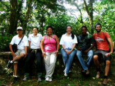 Peace Corps/Dominican Republic volunteer John Holder with local volunteers working to expand regional trail systems.