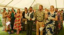 Volunteers in Rwanda take the oath of service