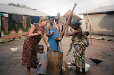 Returned Peace Corps/Togo volunteer Sara Holtz (1995-1998) wins photo contest award for the category sharing overseas culture with America..