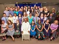 Volunteers at the Washington, D.C. headquarters prior to their departure for Sierra Leone.