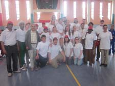 Peace Corps volunteers at the Special Olympics games in Tangier, Morocco.