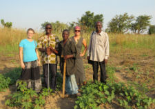 Peace Corps volunteer Mary Bryson (left) and Alisha Williams (second from right) with local NGO leaders.
