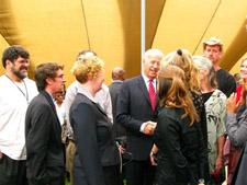 Peace Corps volunteers meet with U.S. Vice President Joe Biden in Kenya.