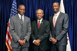 Milton Ochieng', M.D., Earl Yates, and Fred Ochieng', M.D.