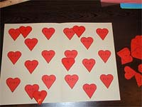 The fishing and match the heart game are part of an after school activity introduced by Lorien.