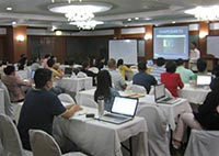 DSWD Demo Workshop for the Enhanced Disaster Reporting System in Tagaytay, Cavite, May 2013.