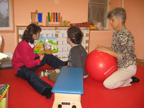 Christine (right) trained Bulgarian physiotherapists to engage children in meaningful motor learning activities and involve their family members in treatment methods that could be carried out at home.