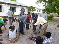 Participants at a food processing workshop in Mongu District sample mango jam prepared during the training.
