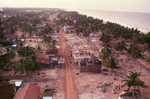 In December of 2004, an earthquake off the coast of Indonesia created tsunamis that devastated coastal regions throughout Southeast Asia, including the island country of Sri Lanka.