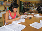 Ruthia Yi, a Peace Corps Response Volunteer in Liberia, helped several learning resource centers transition from paper-based systems to electronic databases and logs.