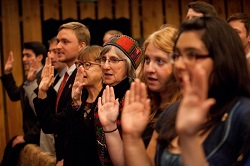 36 new Peace Corps volunteers were sworn in by U.S. Ambassador to Armenia John Heffern in Armenia on November 12