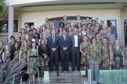 On Dec. 2, U.S. Deputy Chief of Mission Mark Cassayre swore in 53 new volunteers at the U.S. Ambassador's residence in the capital city of Maputo.