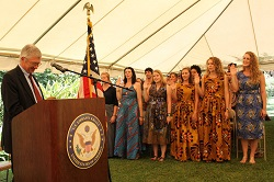 On Dec. 5, 36 new volunteers were sworn in by U.S. Ambassador to Rwanda Donald Koran