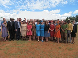 32 new volunteers were sworn into service by U.S. Ambassador to Lesotho Matthew Harrington.