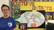 Stephanie Scribner in her classroom