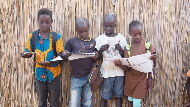 Nearly 80 Edison students wrote stories in French for elementary students in Senegal and art students at the school illustrat