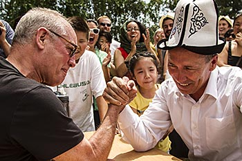 arm-wrestling match in Kyrgyz Republic