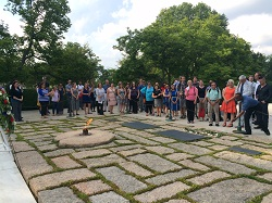 Director Carrie Hessler-Radelet joined returned Peace Corps volunteers at Arlington National Cemetery