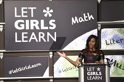 First Lady Michelle Obama announced 13 new independent commitments to Let Girls Learn from organizations around the world