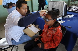 Professional eye doctors provided exams to local community members