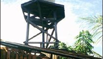 This is the tower that supplies water to Hotel Python on the beach.