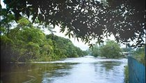 This is the Kengue River behind the water treatment plant in Kribi—the SNEC (Societe Nationale des Eaux du Cameroun). It supplies water to Kribi and the surrounding areas.